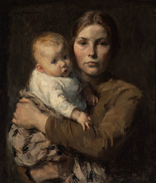 Wall Art - Painting - Mother And Child by Gari Melchers
