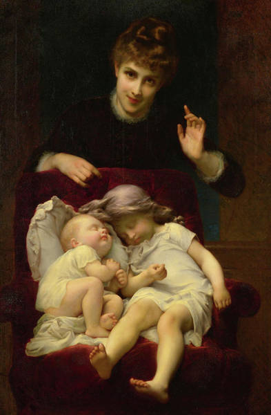 Wall Art - Painting - Motherhood, 19th Century by Etienne Adolphe Piot