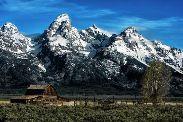 Teton National Park Digital Art - Moulton Barn by David Marsh