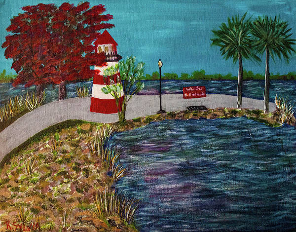 Painting - Mount Dora Lighthouse by Randy Sylvia