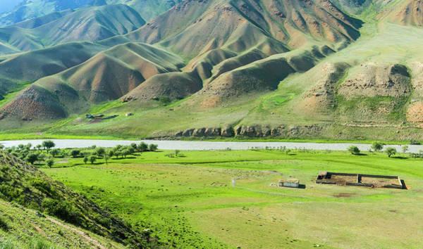 Wall Art - Photograph - Mountain Landscape At Naryn River Naryn Gorge Naryn Region Kyrgyzstan by imageBROKER - GTW