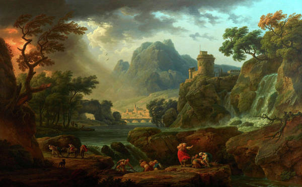 Wall Art - Painting - Mountain Landscape With An Approaching Storm by Claude-Joseph Vernet