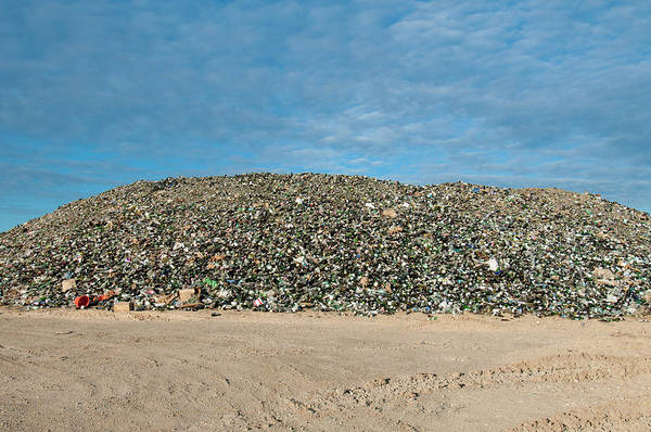 Wall Art - Photograph - Mountain Of Glass Bottles by William Mullins