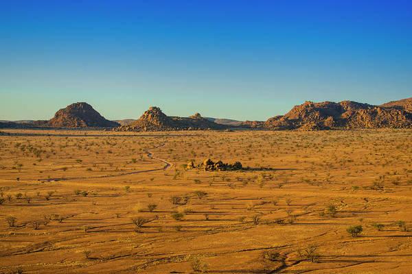 Wall Art - Photograph - Mountainous Landscape Near Twyfelfontein Kunene Region Namibia by imageBROKER - Matthias Graben