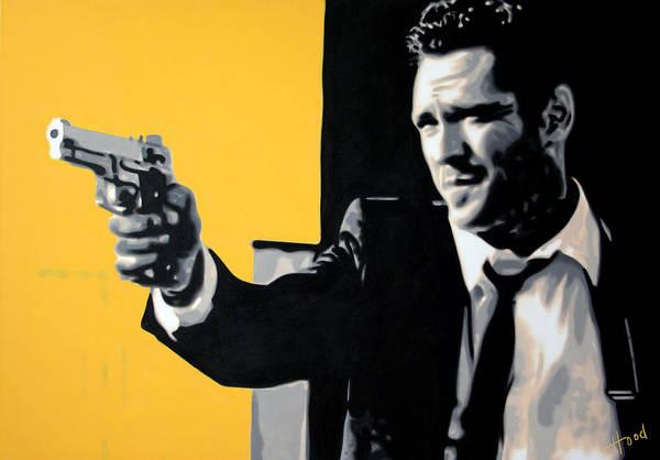 Reservoir Dogs Painting - Mr Blonde by Luis Ludzska Hood