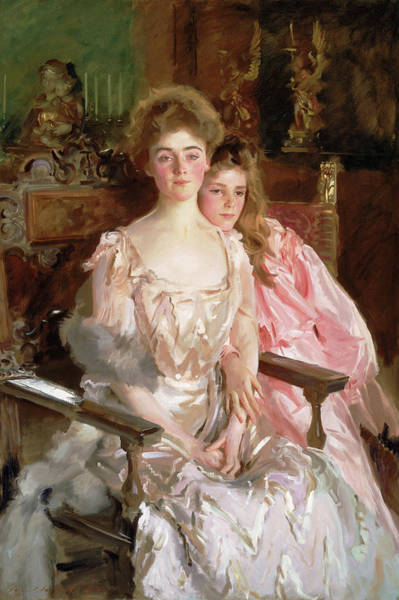 Wall Art - Painting - Mrs. Fiske Warren - Gretchen Osgood And Her Daughter Rachel by John Singer Sargent
