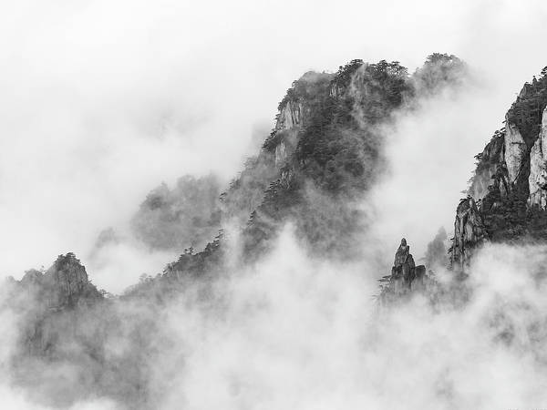 Photograph - Mt.huangshan - Misty And Magical. by Usha Peddamatham