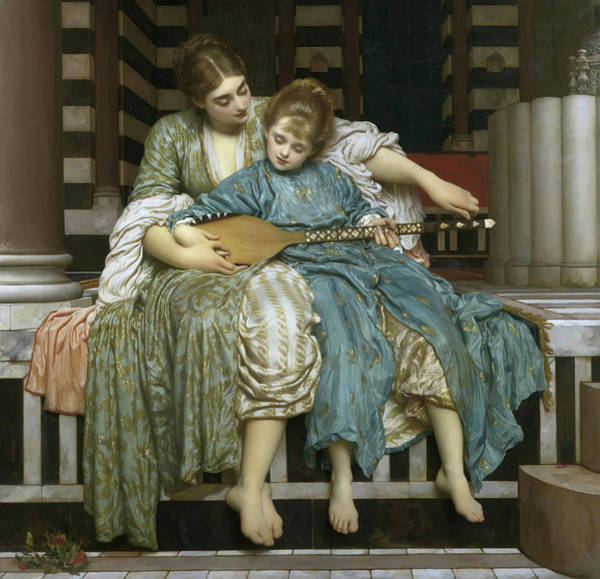 Wall Art - Painting - Music Lesson by Frederic Leighton