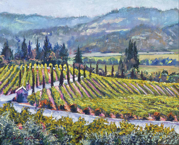 Painting - Napa Valley Vineyards by David Lloyd Glover