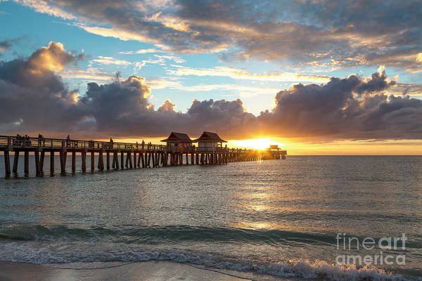 Photograph - Naples Pier At Sunset II by Brian Jannsen