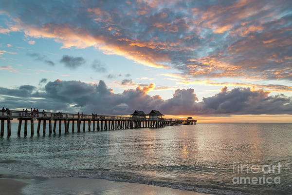 Photograph - Naples Pier At Sunset IIi by Brian Jannsen