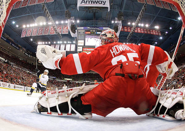 Nhl Photograph - Nashville Predators V Detroit Red Wings by Gregory Shamus