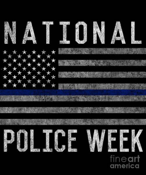 Digital Art - National Police Week by Flippin Sweet Gear