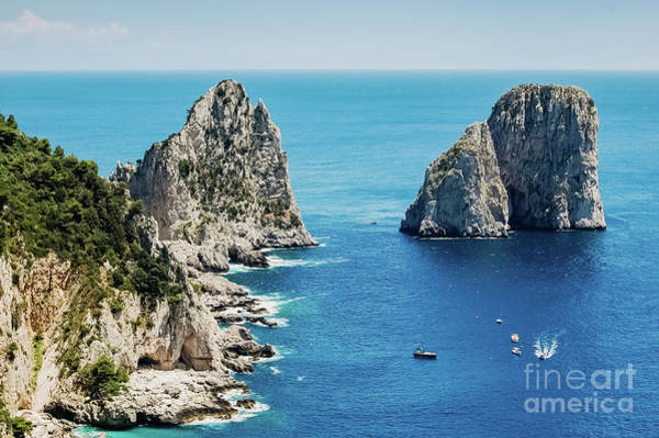 Photograph - Natural Rock Arches And Cliffs On The Coast Sorrento And Capri,  by Joaquin Corbalan