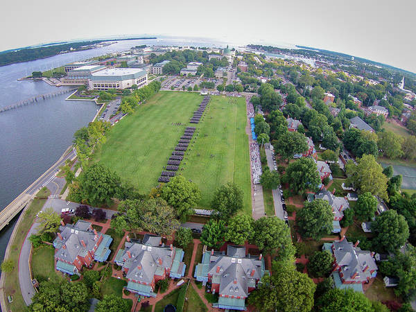 Photograph - Naval Academy Formal Parade by Mark Duehmig