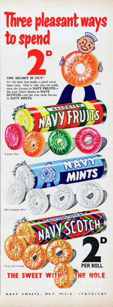 Wall Art - Photograph - Navy Sweets by Picture Post