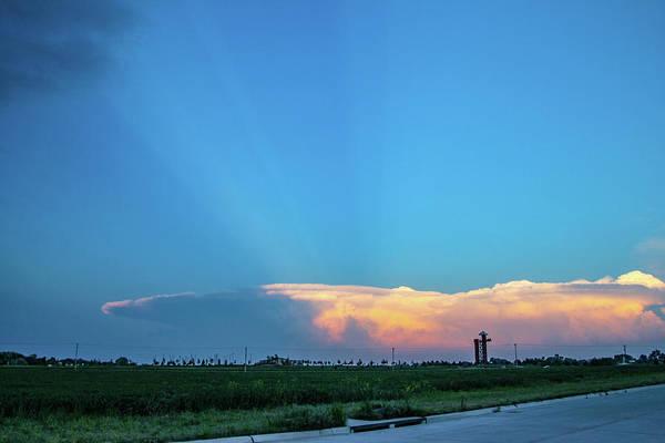 Photograph - Nebraska Sunset Thunderheads 092 by NebraskaSC
