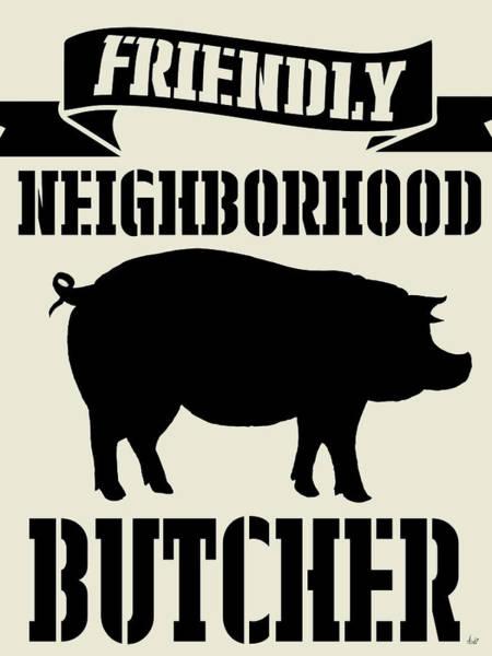 Neighborhood Painting - Neighborhood Butcher by Andi Metz