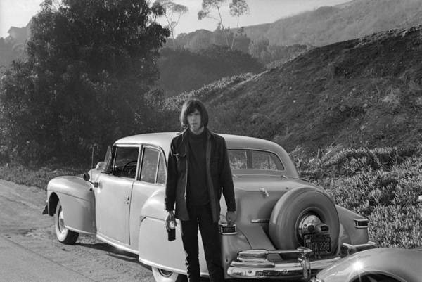 Neil Young Photograph - Neil Young And His Classic Car by Michael Ochs Archives