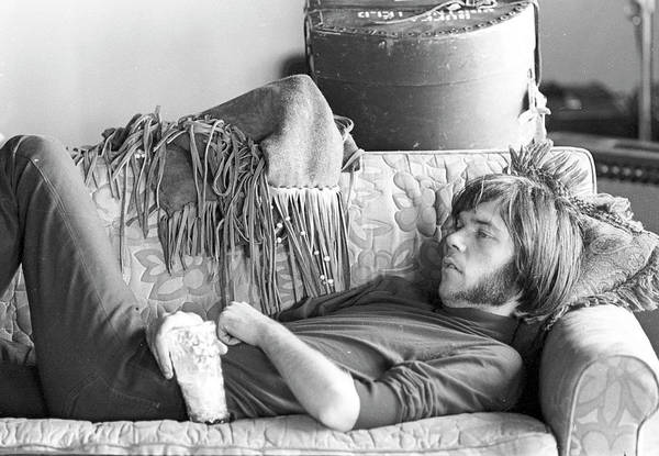 Neil Young Photograph - Neil Young In Malibu by Michael Ochs Archives