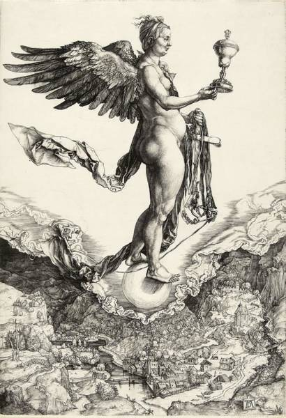 Albrecht Durer Wall Art - Painting - Nemesis by Albrecht Durer