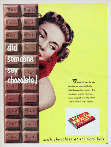 Wall Art - Photograph - Nestle Milk Chocolate by Picture Post