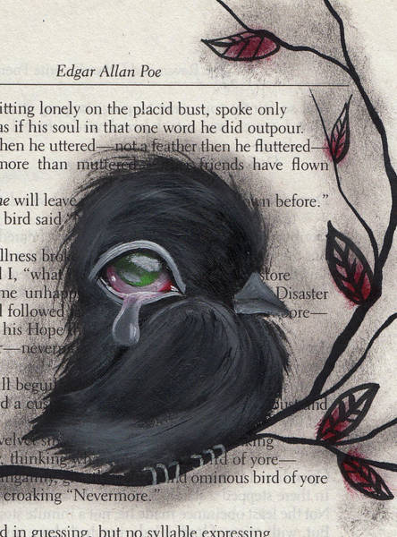 Wall Art - Painting - Nevermore  by Abril Andrade Griffith