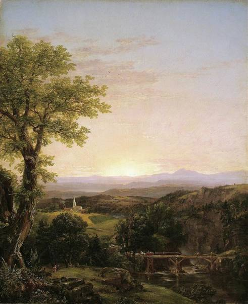 Painting - New England Scenery by Thomas Cole