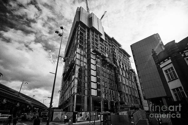 Wall Art - Photograph - New Unite Students University Accommodation Blocks Being Built Liverpool Merseyside England Uk by Joe Fox