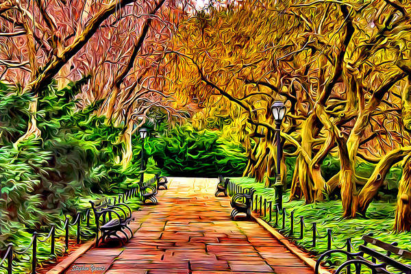 Wall Art - Digital Art - New York Central Park by Stephen Younts