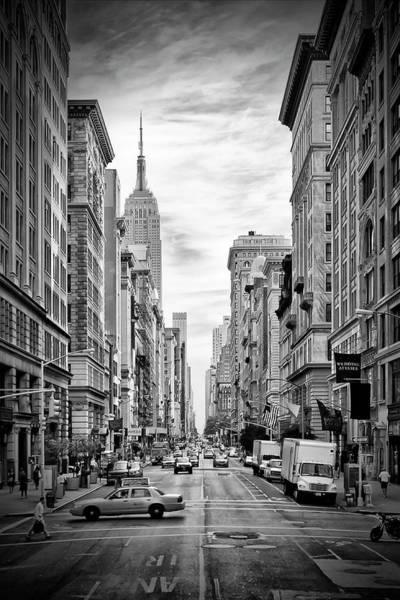 Wall Art - Photograph - New York City 5th Avenue - Monochrome by Melanie Viola