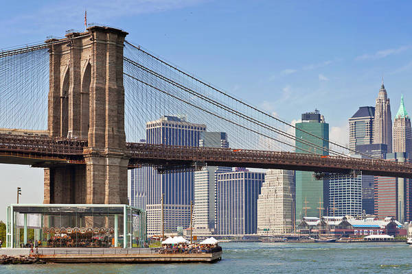Wall Art - Photograph - New York City Brooklyn Bridge by Melanie Viola