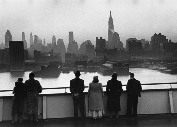 Boat Deck Photograph - New York Dawn by Kurt Hutton