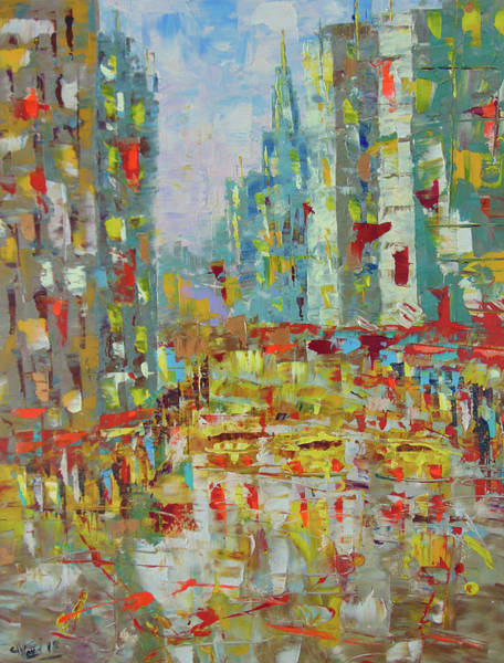 Painting - New York by Frederic Payet