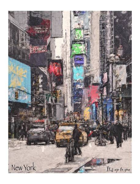Wall Art - Painting - New York by Steve K