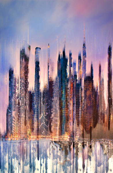 City Scape Digital Art - New York by Tim Palmer
