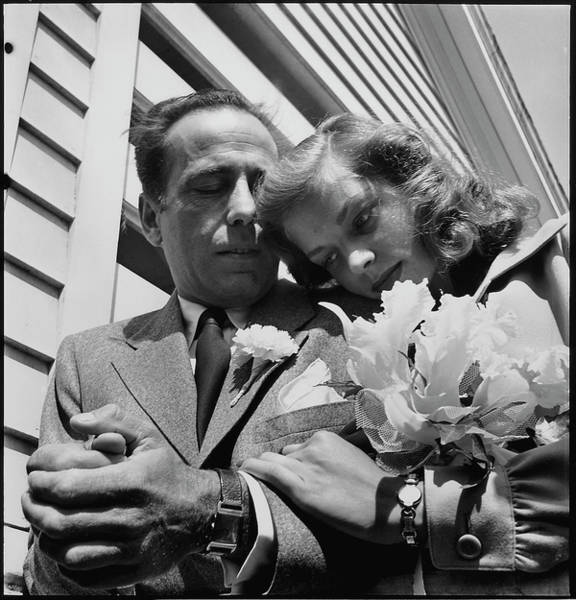 Wedding Reception Photograph - Newlywed Actors Humphrey Bogart And by Ed Clark