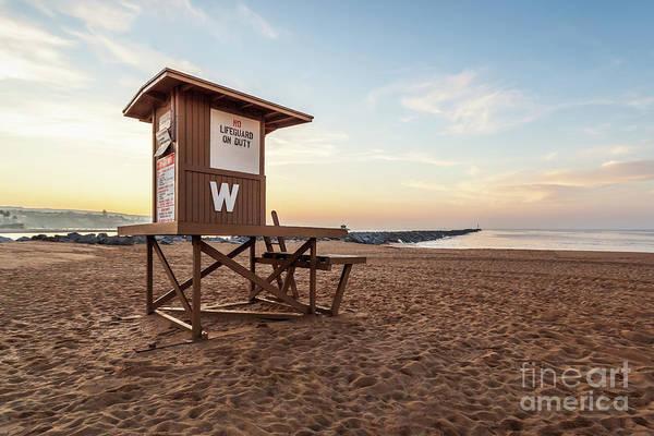 Wall Art - Photograph - Newport Beach Wedge Lifeguard Tower W Sunrise Photo by Paul Velgos