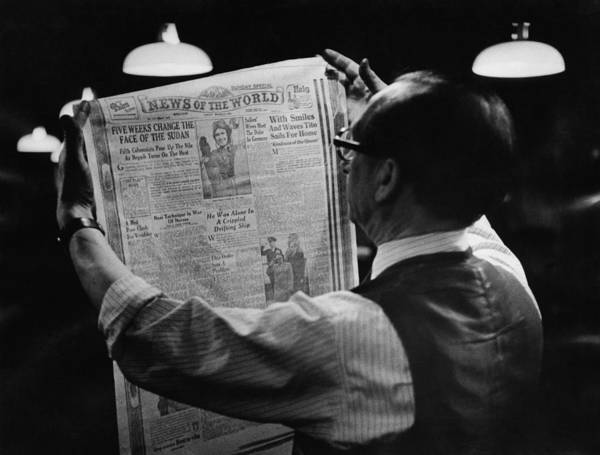 Front Page Photograph - News Of The World by Bert Hardy