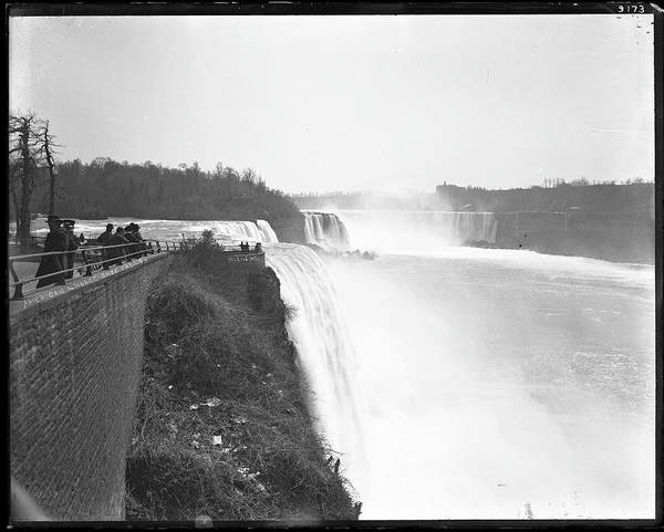 The Horseshoe Wall Art - Photograph - Niagara Falls by The New York Historical Society