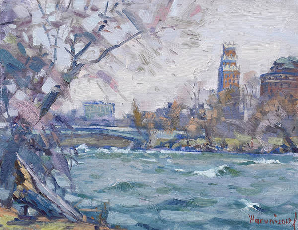 Wall Art - Painting - Niagara River by Ylli Haruni