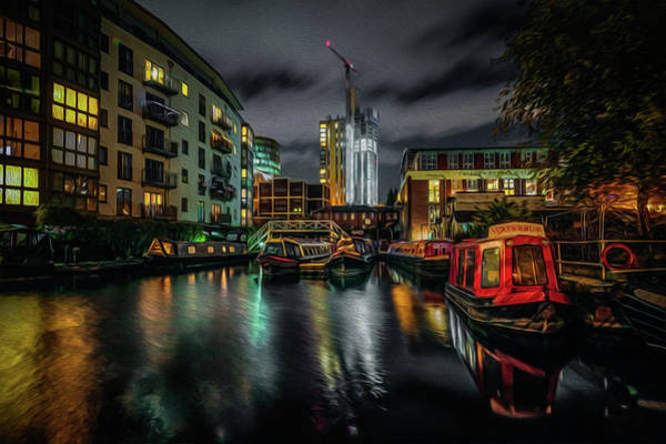 Wall Art - Photograph - Night In Sherborne Wharf by Chris Fletcher