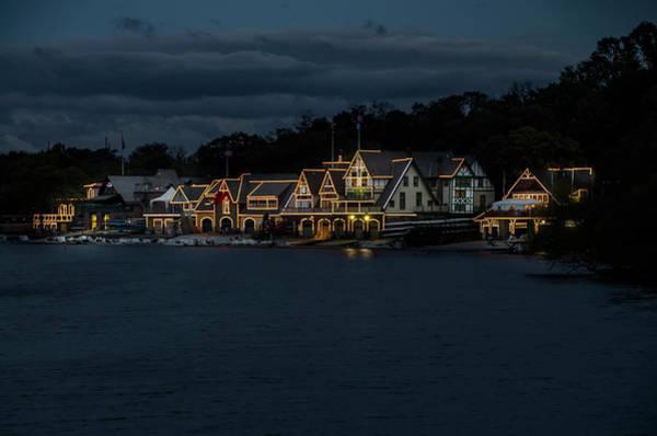 Photograph - Night Lights - Boathouse Row - Philadelphia by Bill Cannon