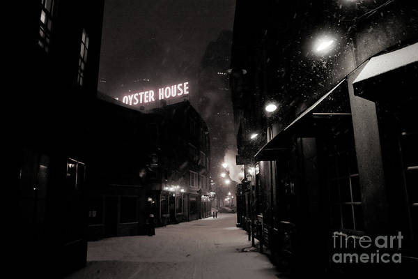 Photograph - Night Of Snowfall In The City, Streets Covered With Snow And Ice. by Joaquin Corbalan