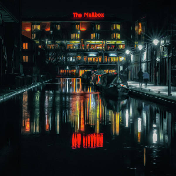 Birmingham Wall Art - Photograph - Night Out At The Mailbox by Chris Fletcher