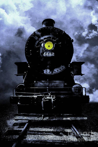 Wall Art - Photograph - Stormy Night Train  by Edward Fielding