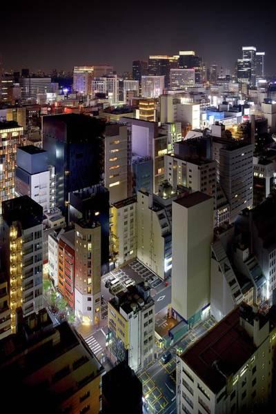 Ginza Wall Art - Photograph - Night View Of Tokyo by Vladimir Zakharov