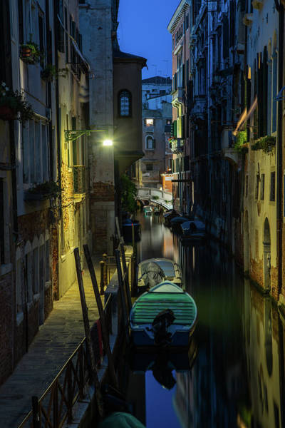 Photograph - Night Walk In Venice by Jaroslaw Blaminsky