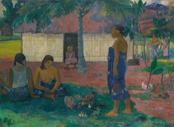 Wall Art - Painting - No Te Aha Oe Riri by Paul Gauguin