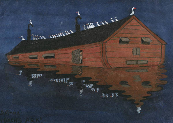 Painting - Noah's Ark by Ivar Arosenius